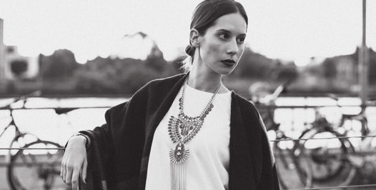 make a statement: cape & necklace love